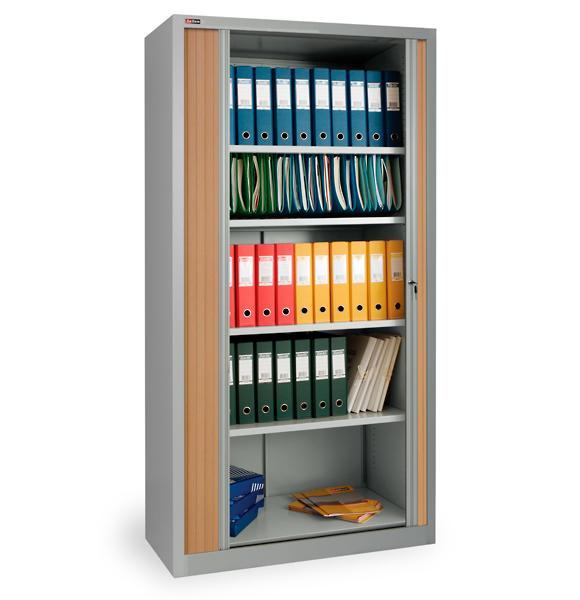 Шкаф офисный с дверьми-жалюзи