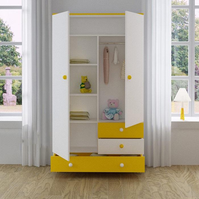 Шкаф с полками и ящиками