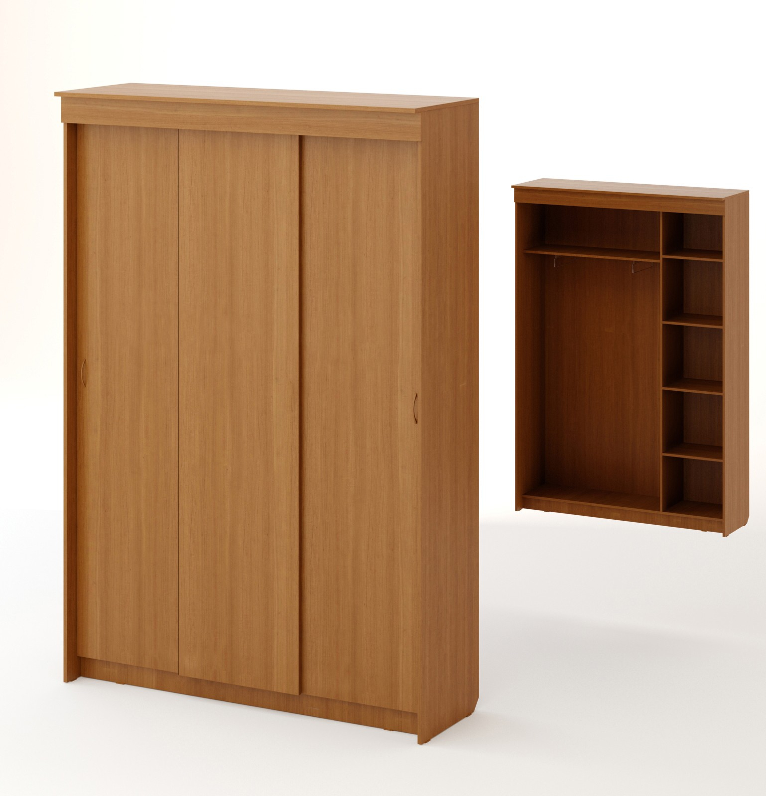 Шкаф с тремя створками