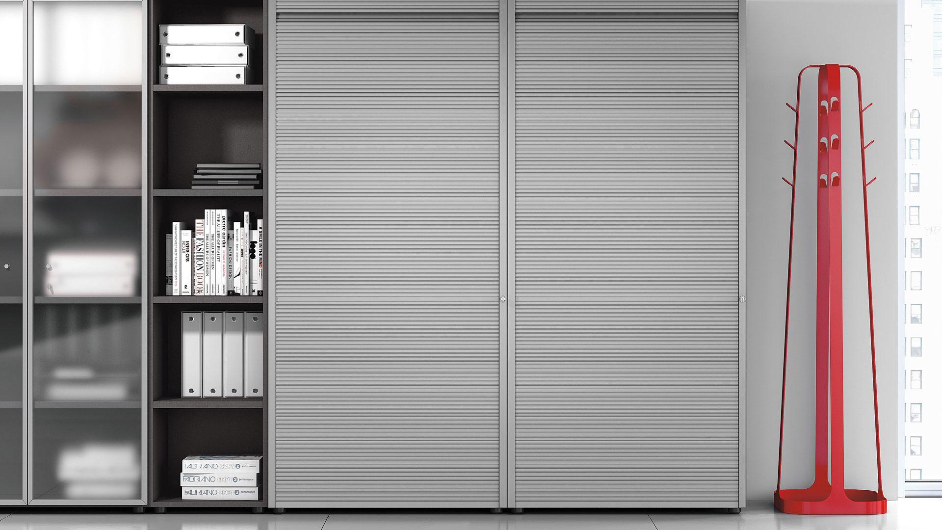 Шкаф серый