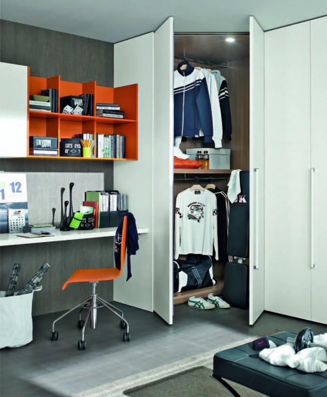Шкаф в комнату подростка мальчика