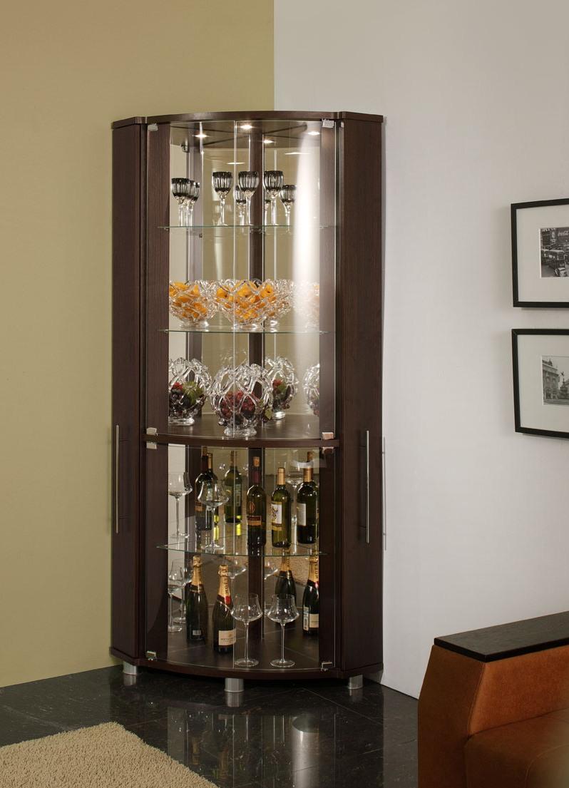Шкаф витрина для гостиной, какой может быть
