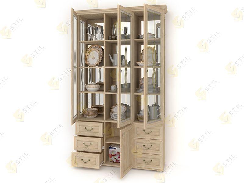 Шкаф витрина с ящиками