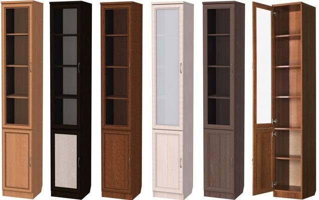 Шкафы для книг узкие