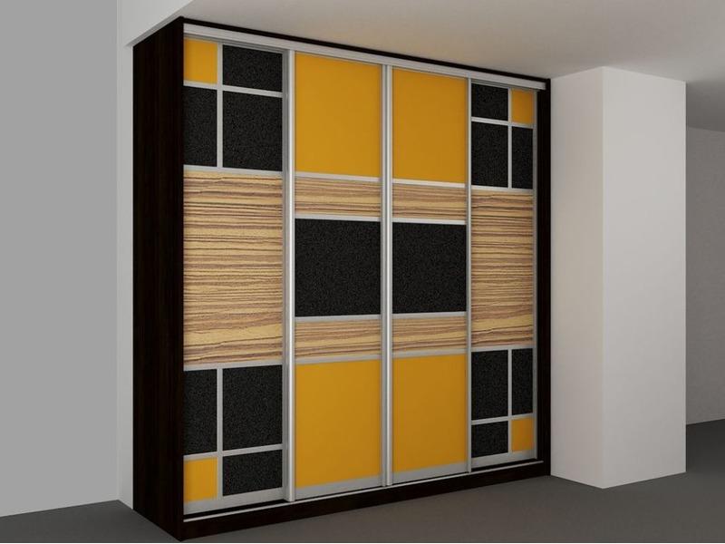 Шкафы-купе c комбинированными фасадами