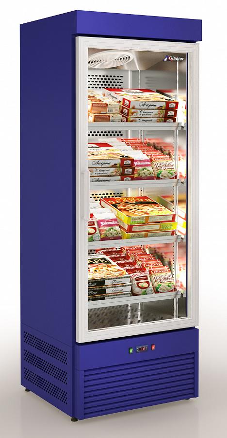 Синий морозильный шкаф