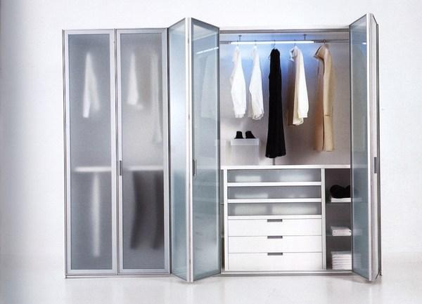 Современный шкаф гармошка