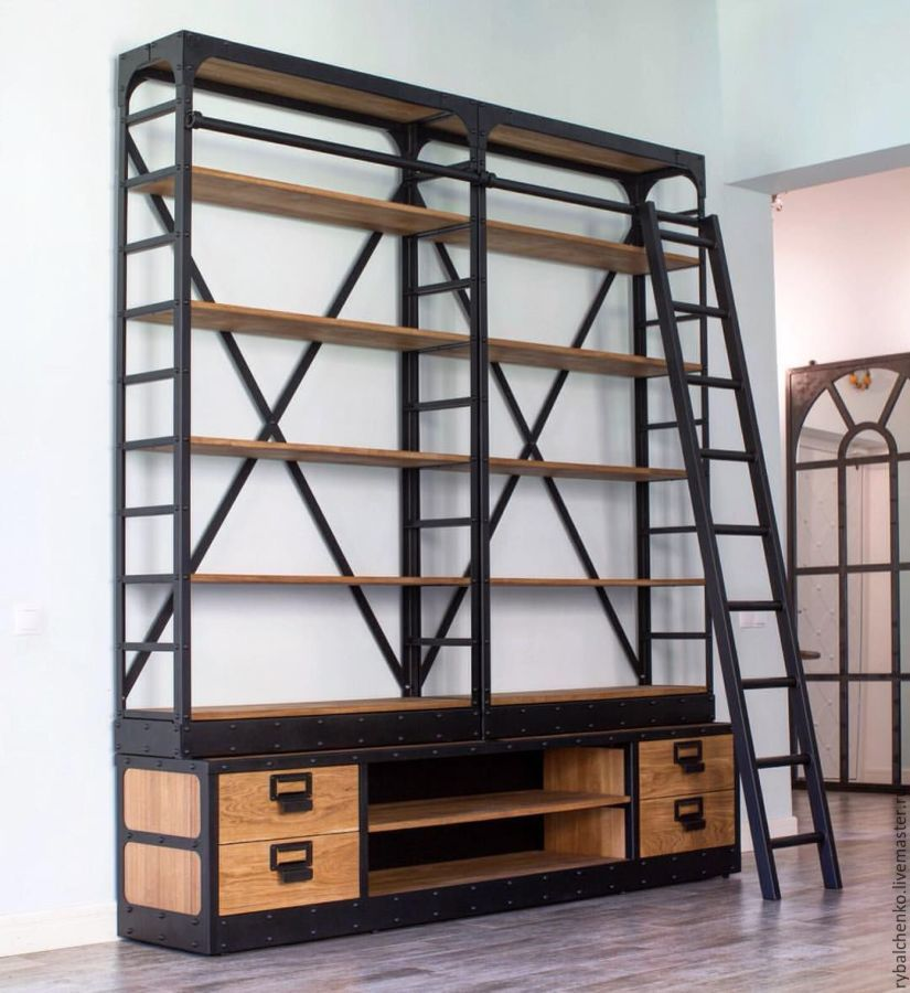 Стеллажи и этажерки в стиле лофт