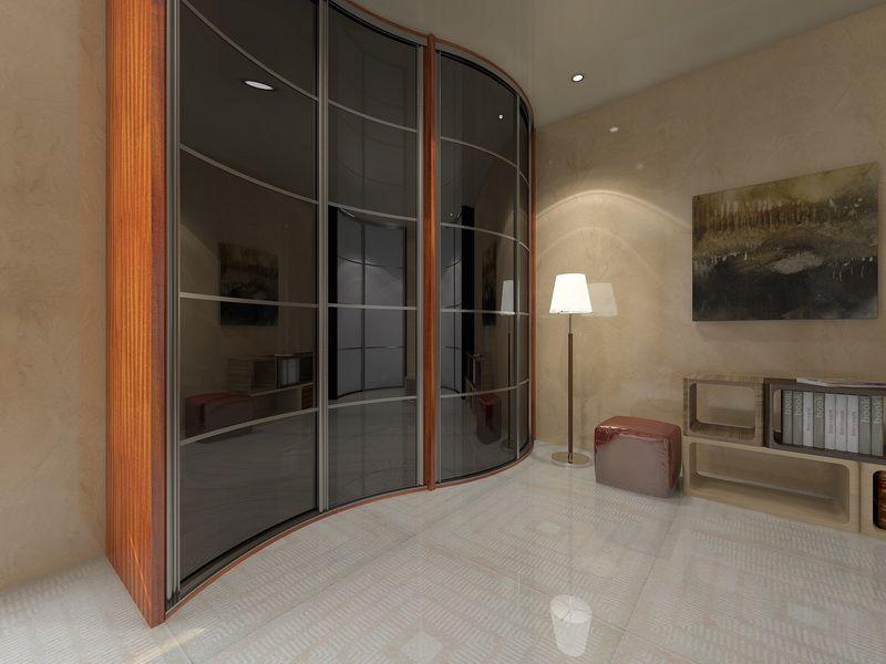 Стильный радиусный шкаф