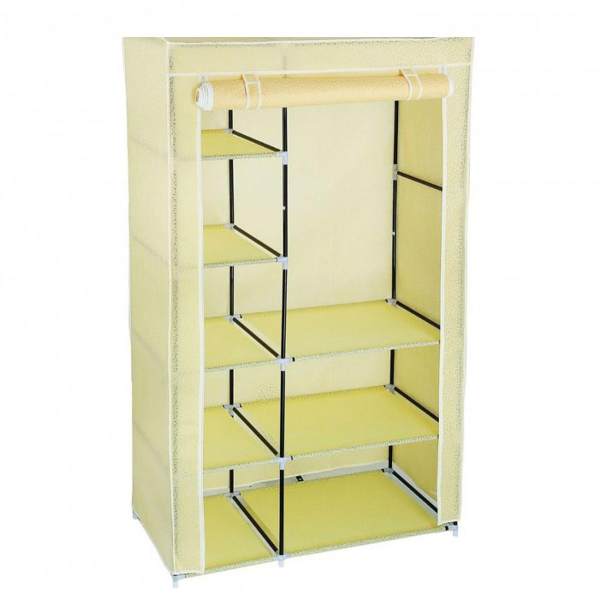 Тканевый шкаф для одежды, бежевый