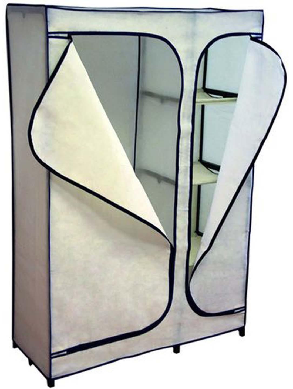 Тканевый шкаф для одежды, кремовый