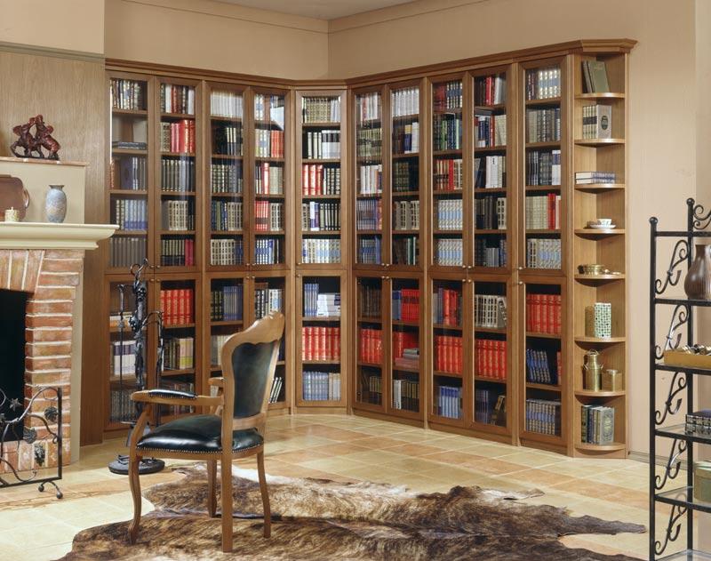 Угловой шкаф библиотека