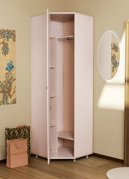Угловой узкий шкаф