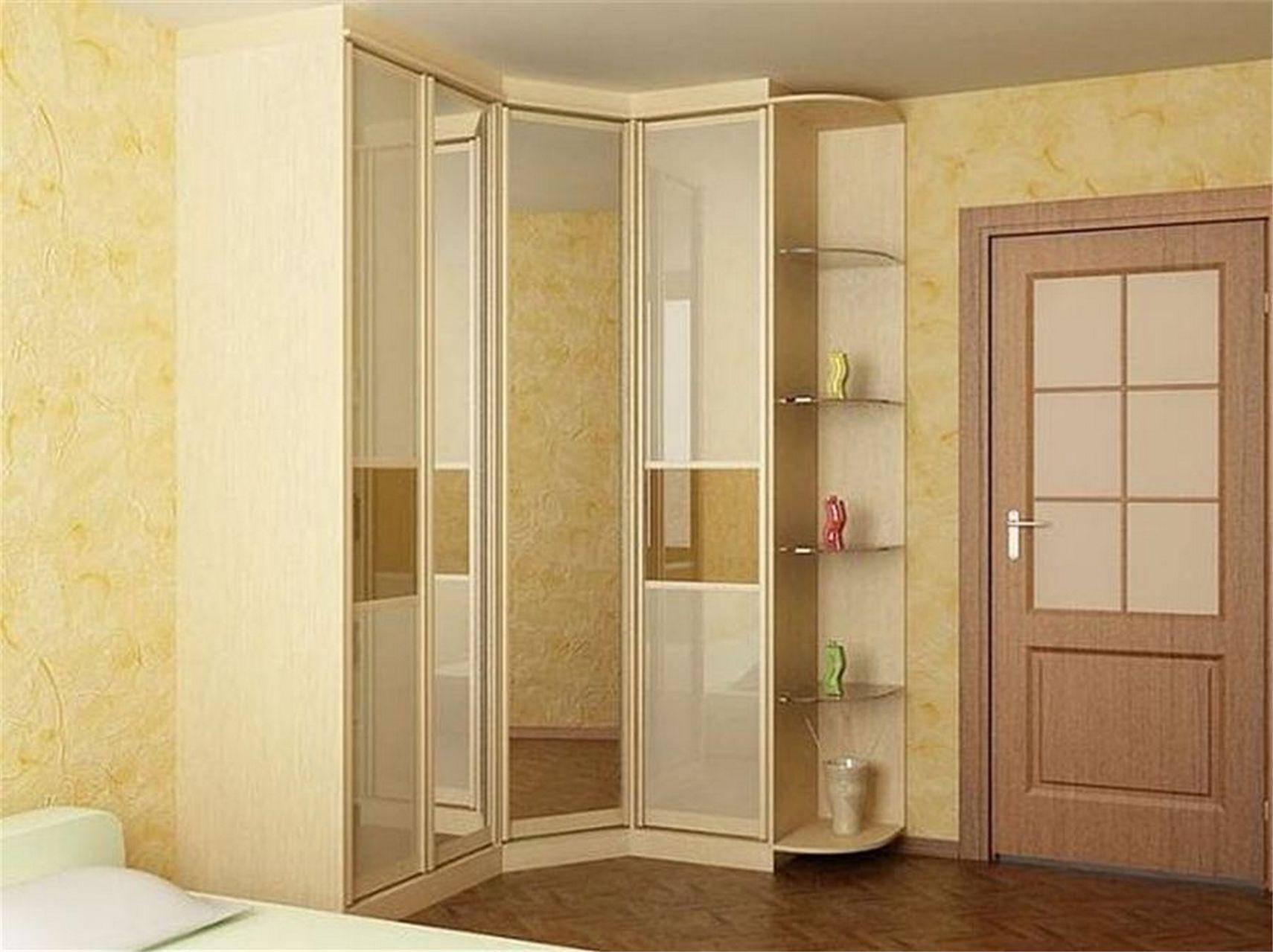 Угловые шкаф купе для спальни