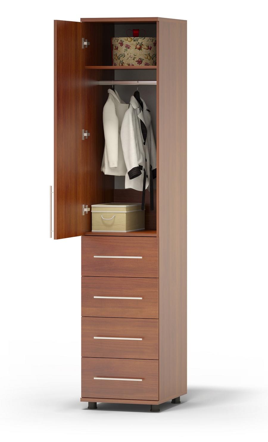Узкий шкаф с ящиками