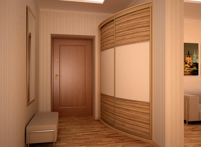 Узкий шкаф во всю стену