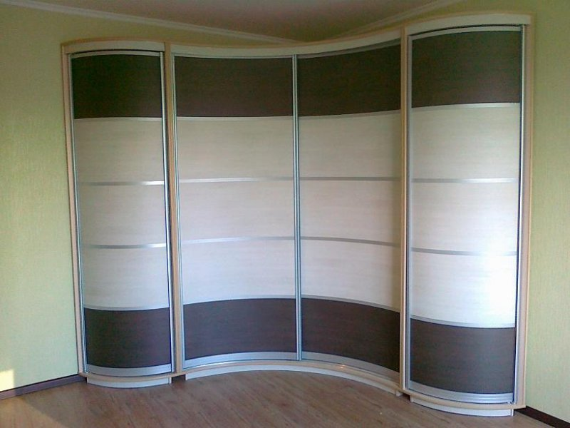 Волнистый угловой шкаф
