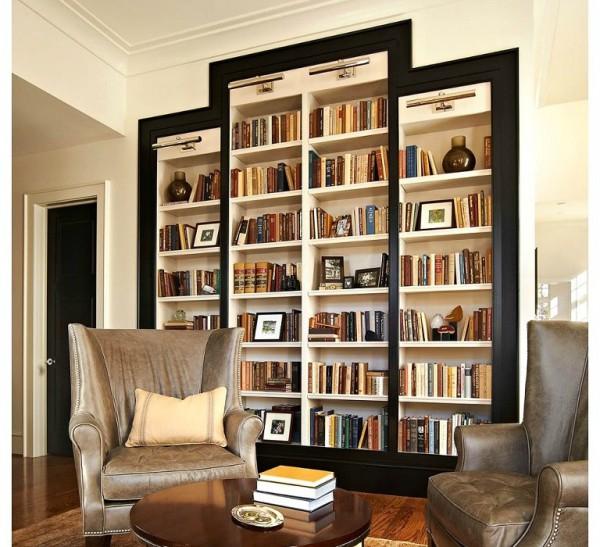 Встроенный шкаф библиотека