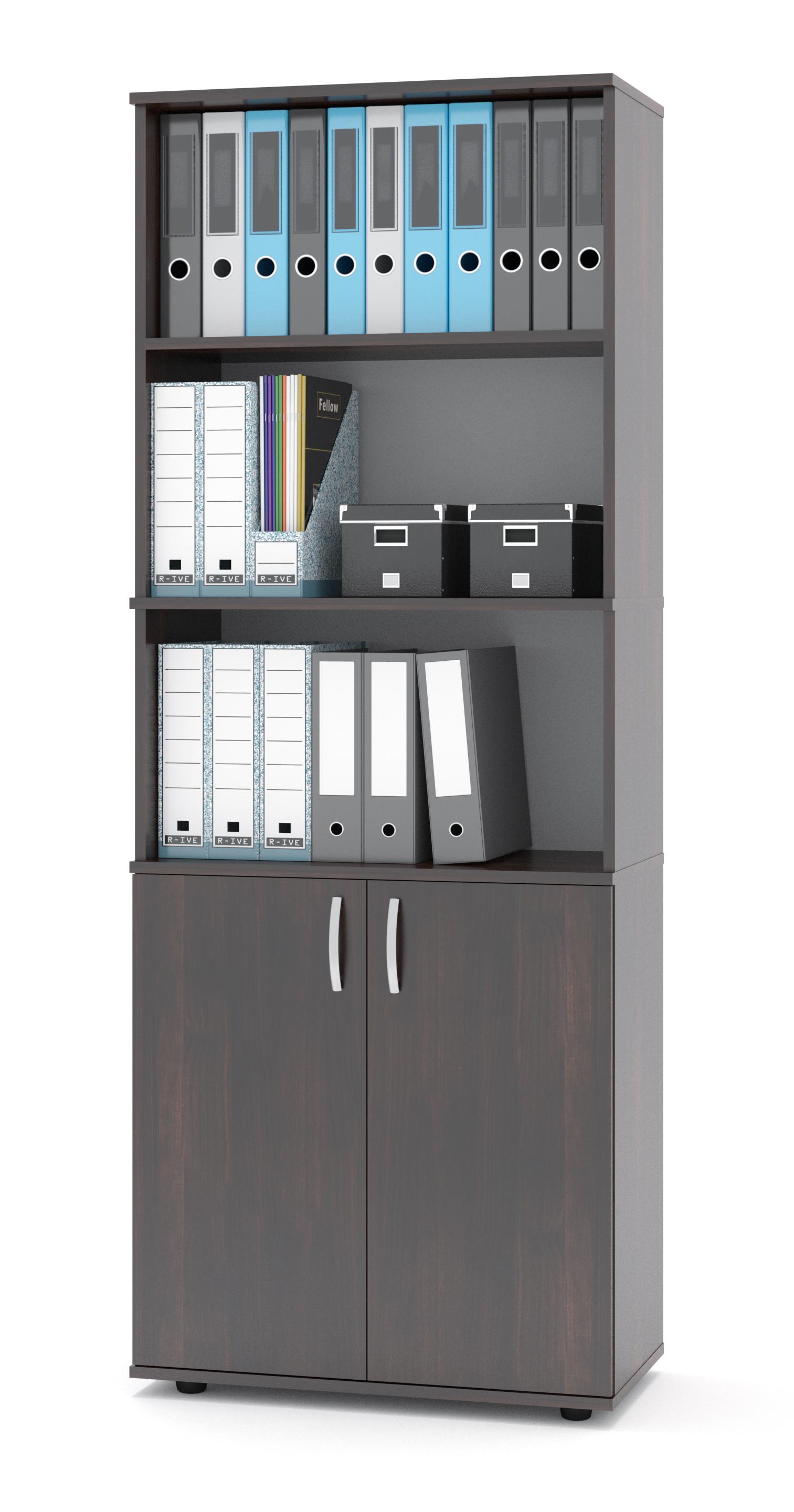 Высокий серый шкаф