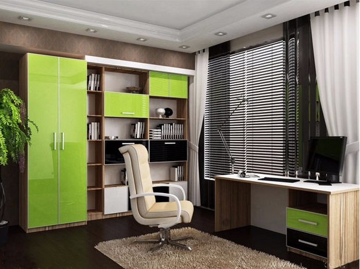 Яркая мебель в кабинет