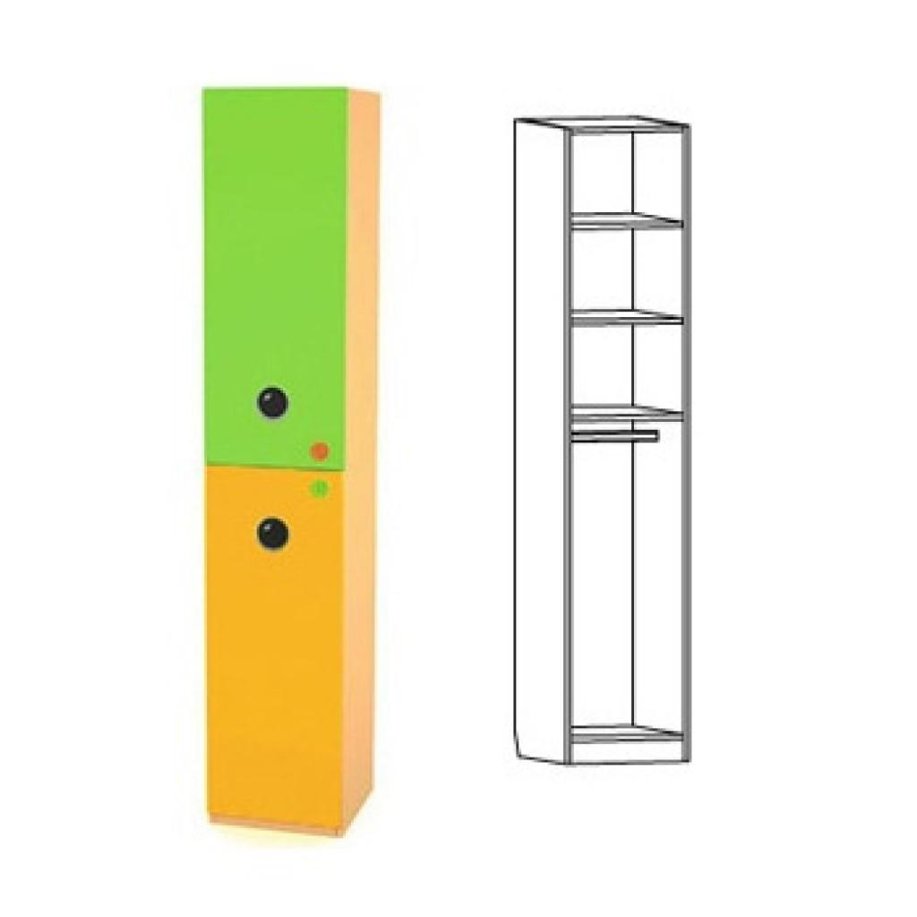 Яркий узкий шкаф