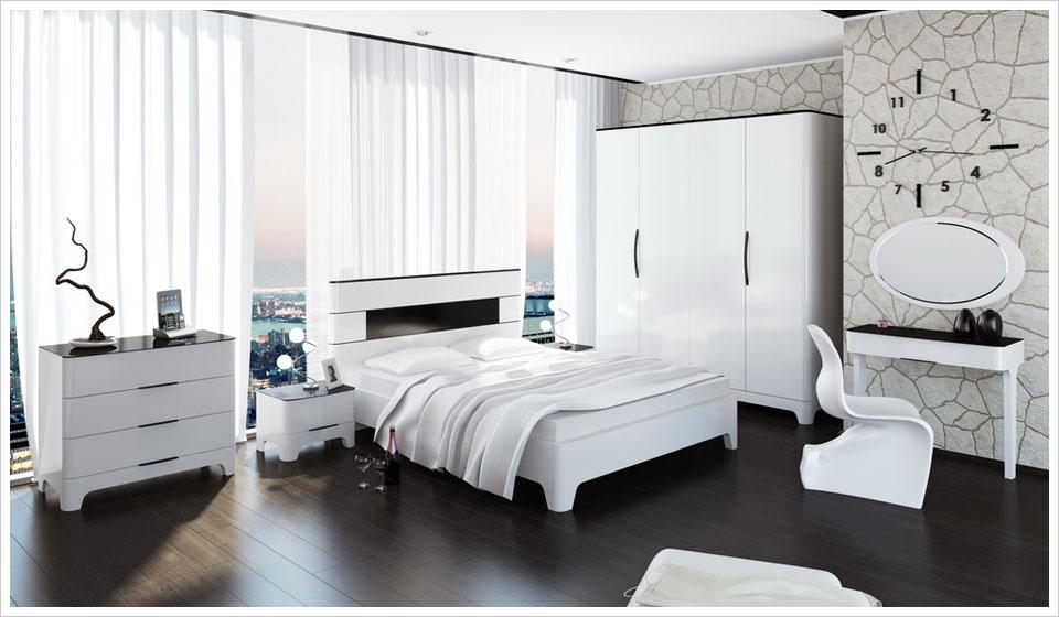 Белая глянцевая мебель