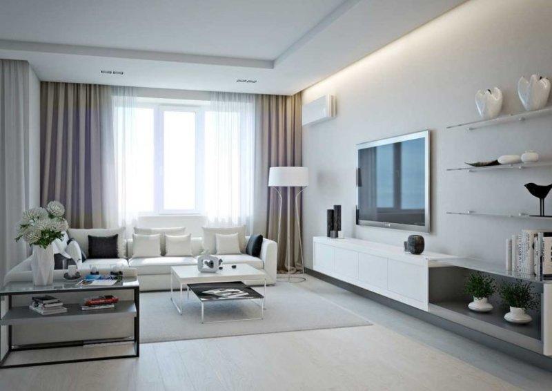 Белая светлая комната