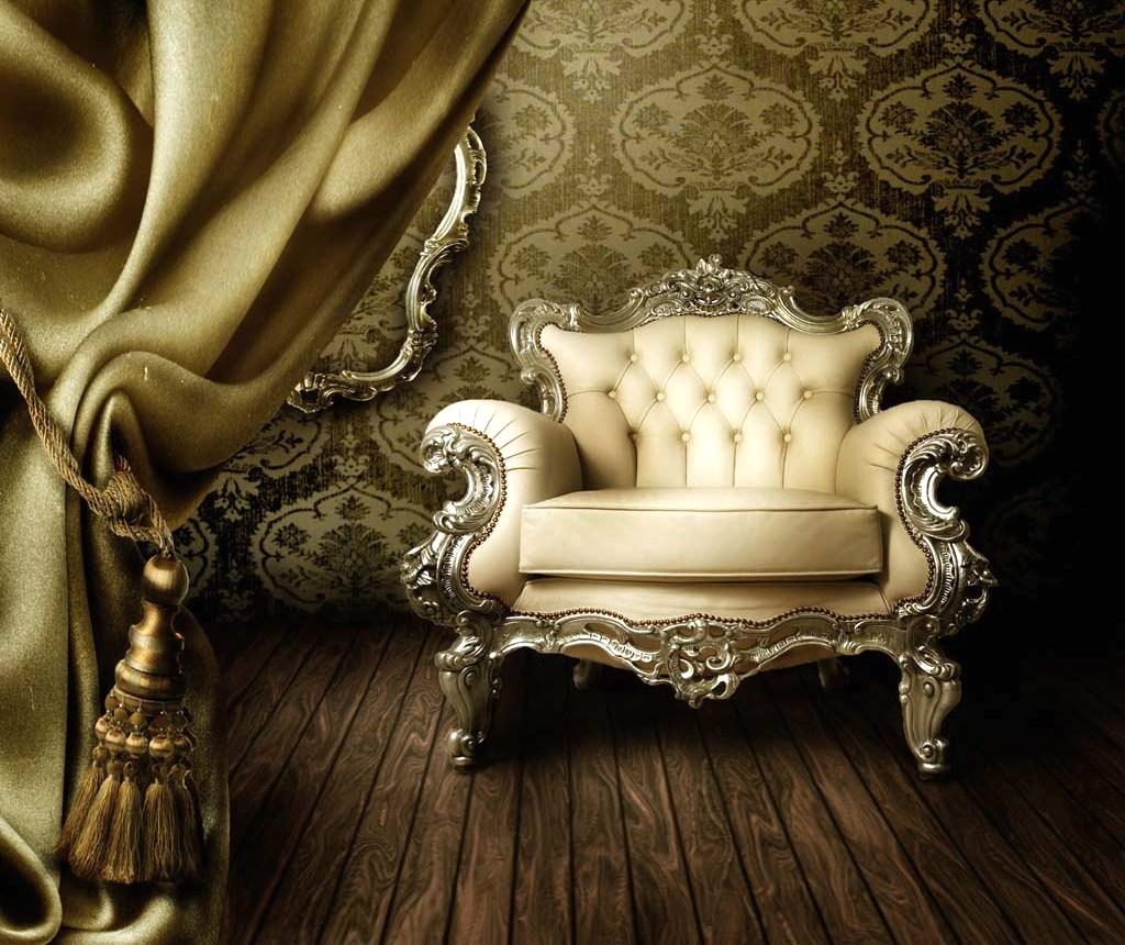 Белое шикарное кресло для дома