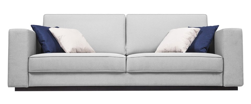 Белый большой диван