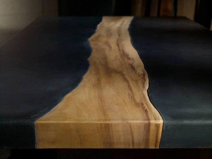Бетонно-деревянная мебель