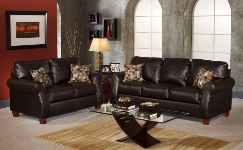Черная мебель из кожи