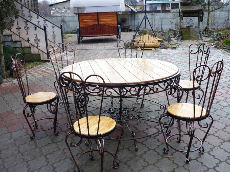 Дачная мебель из металла и дерева