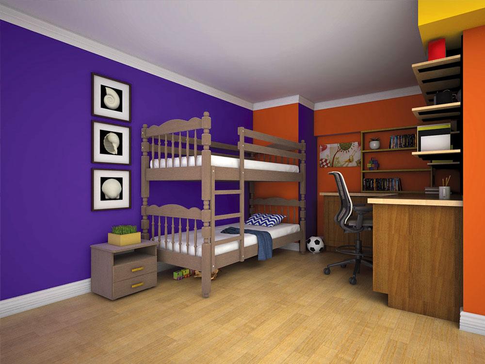 Детская коричневая кровать