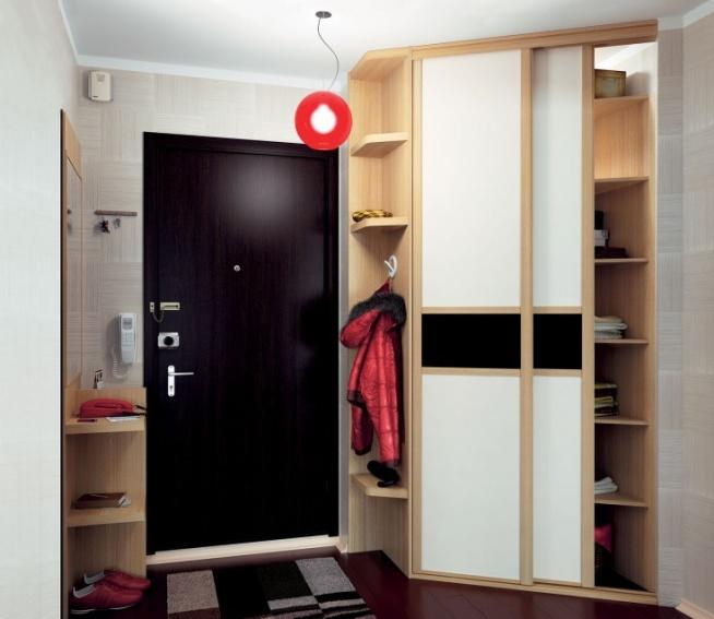 Дизайн шкаф-купе для маленькой прихожей