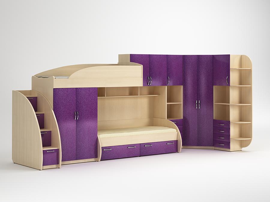 Фиолетовые оттенки мебели
