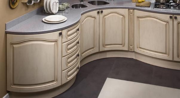 Гнутые элементы кухонной мебели