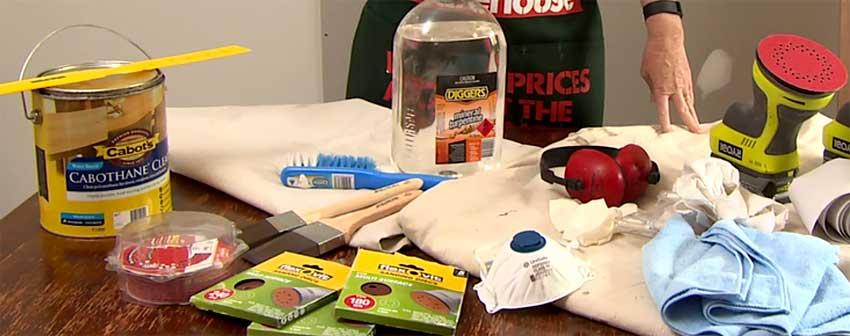 Инструменты и материалы для реставрации мебели
