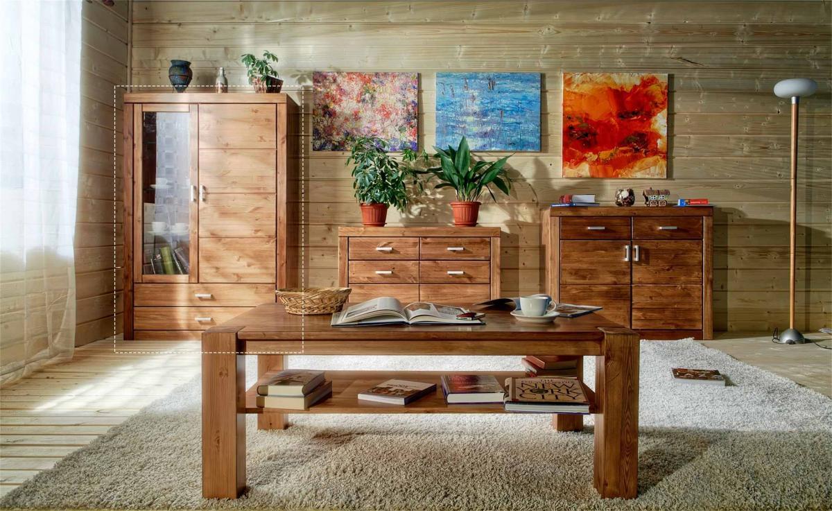 Интерьеры с мебелью из сосны