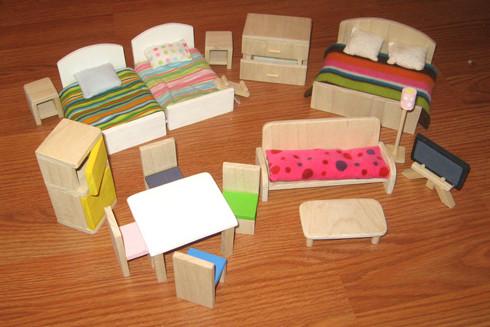 Мебель для кукольного домика своими руками 135