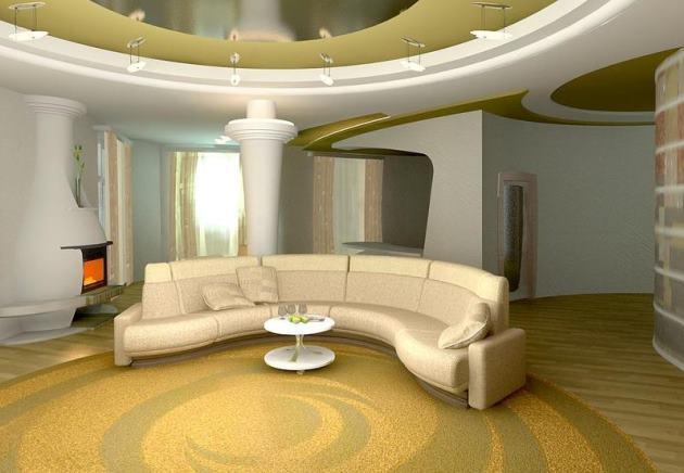 Как сделать просторную комнату красивой