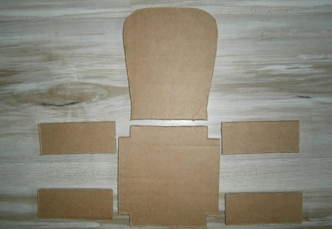 Картонные заготовки для стула