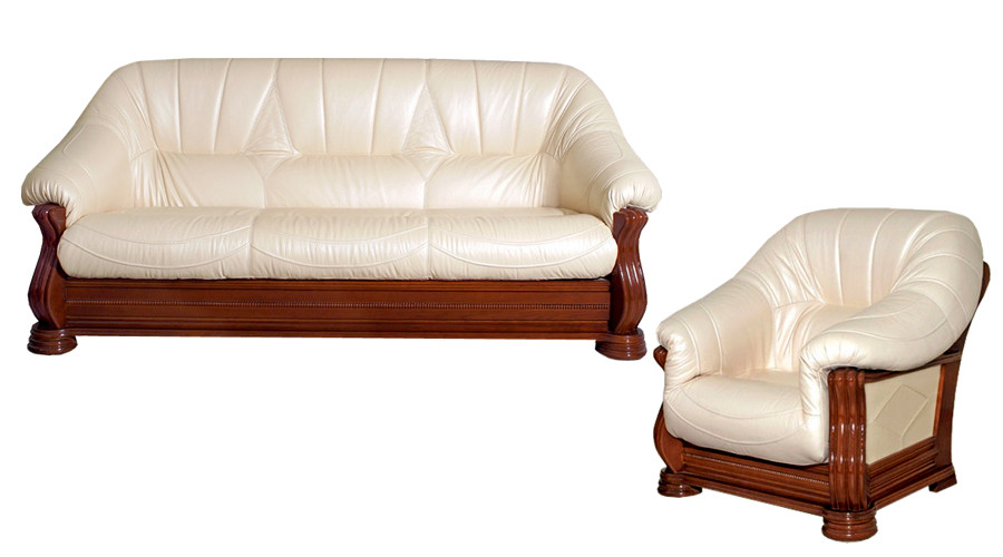 Классическая кожаная мебель