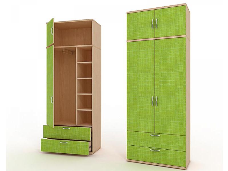 Комбинированный двухдверный шкаф