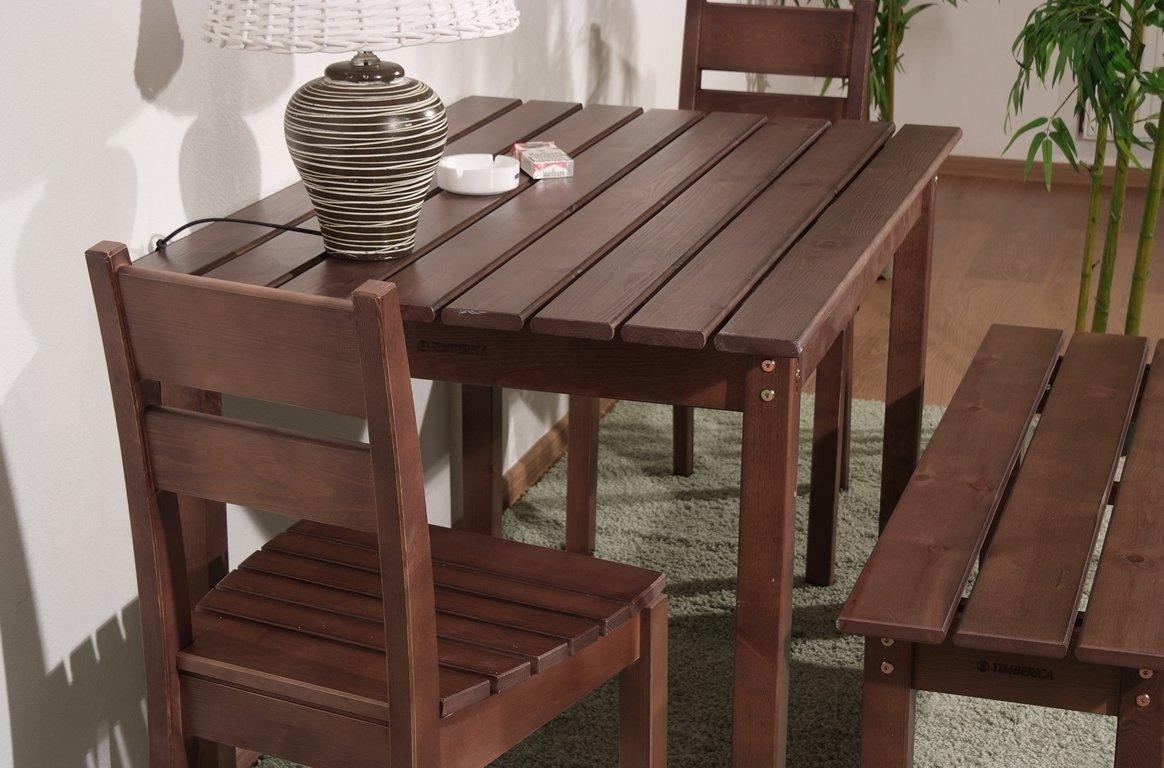 Корчневая деревянная мебель