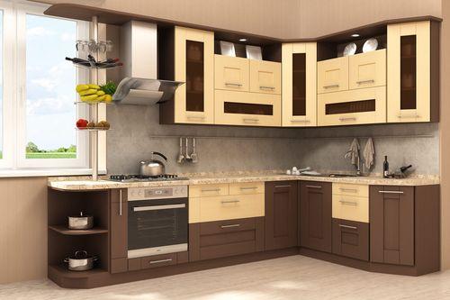 Коричневые покрытия фасадов на кухне