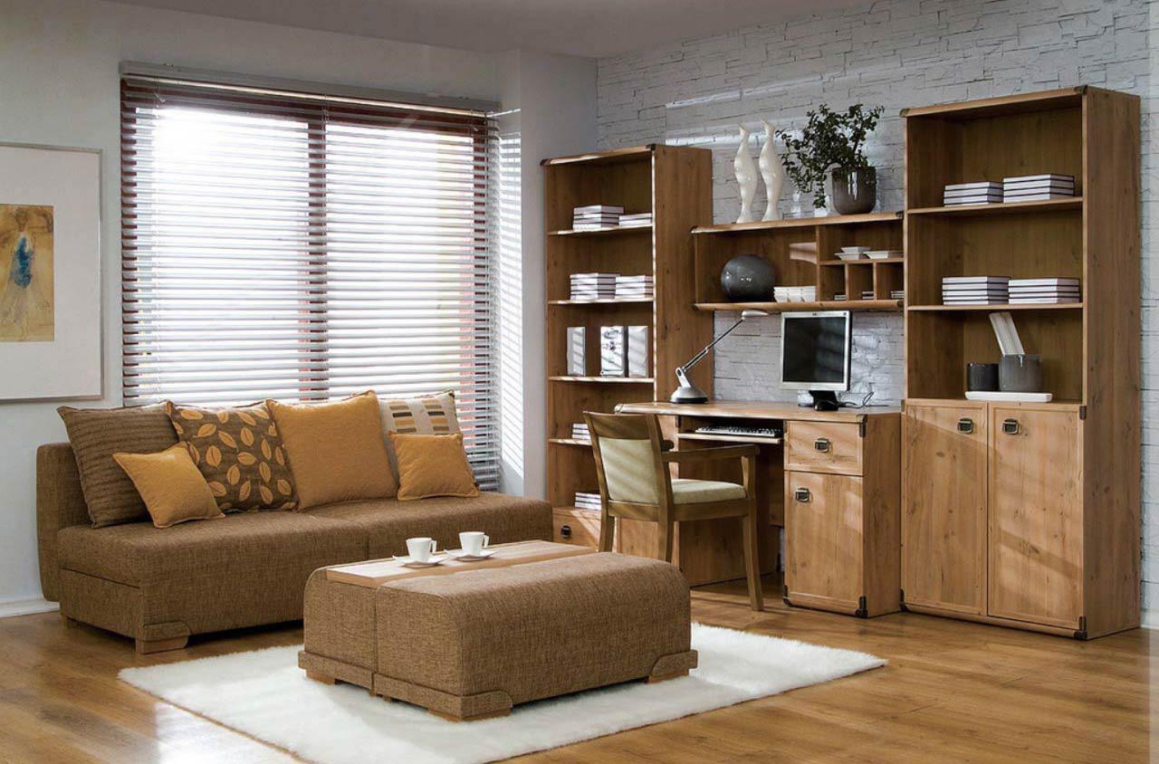 Коричневый комплект мебели для гостиной