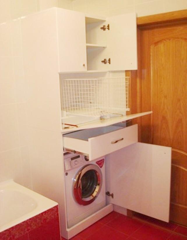 Короб для стиральной машины в ванной