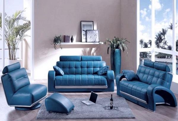 Кожаная мебель в интерьере