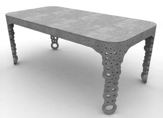 Креативный бетонный стол