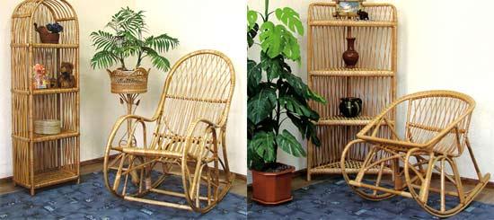 Кресло-качалка и этажерка